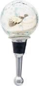 LS Arts Beach Globe Shells Bottle Stopper, Multicolor
