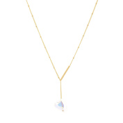 Spinningdaisy Gold Plated Solitary Heart Crystal Necklace