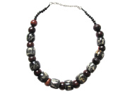 West African Beaded Wood Adjustable Necklace