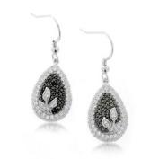 Sterling Silver Drop Earrings Micro Pave Cubic Zirconia CZ Earrings 1.8 ct.tw - Nickel Free Earrings