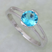 SKCUTE . cute Blue and zircon ring jewellery 18K Gold Plated rings for women