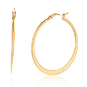 Rounded Gold Plated Hoop Earrings in Gift Box