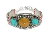 Amber Bracelet, Turquoise Bracelet, Coral Bracelet, Nepal Bracelet, Boho Bracelet