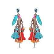 B Jewellery Collection 'Ariel' Beaded Tassel Drop Earrings, Multi