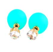 Fashion Candy Colour Double Side Ball Stud Earrings / AZERDSA05-GMI