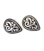Textured Metal TearDrop Clip-On Earrings / AZERCO312-ASL