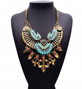 Easting Colourful Rhinestone Crystal Costume Jewellery Gift Vintage Charm Necklace For Womens