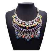 Easting Colourful Diamond Best Mothers Day Jewellery Gift Online Jewellery Stores Party Charm Necklace
