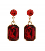 Rectangle Stone Earrings / AZERFH300-GRD