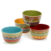 Certified International 22453SET/4 Tunisian Sunset Ice Cream Bowls (Set of 4), 13cm , Multicolor