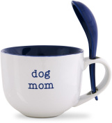 Pavilion Gift Company 14120 Dog Mom Soup Bowl with Spoon, 470ml, Mom Love
