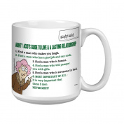 Tree-Free Greetings XM27826 Aunty Acid Artful Jumbo Mug, 590ml, Guide to Love
