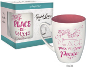 Angelstar 74214 May Peace be with You Rachel Anne Stoneware Mug, 440ml, Multicolor