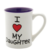 Our Name Is Mud 470ml 'I Heart My Daughter' Mug by Lorrie Veasey, 11cm