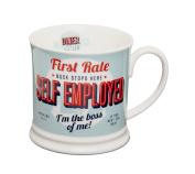 """Diner Mugs 495300170cm Self Employed"""" Mug, Turquoise"""