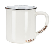 Abbott Collection Ivory Enamel Look Mugs