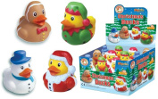 boho 4 Christmas Rubber Bath Ducks,Snowman,Santa,Elf,Gingerbread Man.Stocking Filler