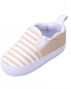 Minetom Baby Kids Navy Stripe Toddler Soft Sole Prewalker Crib Shoes