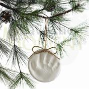 Baby & Child Christmas Tree Decoration, Handprint Footprint Imprint Kit, Gift. Clay Handprint Footprint Paw Print Keepsake, Inkless, Imprint, Baby Shower Gift.