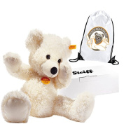Number 1 Selling Authentic Steiff White Lotte Teddy Bear 40 cm and Reusable Gift Bag - Retro Style - Boy Boys Girl Girls Kids Children Child Birthday Gift Present Idea - Suitable From Birth