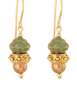 Antheia Earrings - 14 Kt Goldfilled - Green