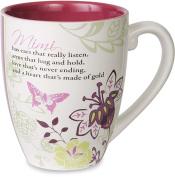 Pavilion Gift Company Mark My Words Mimi Floral Butterfly Grandma Coffee Tea Mug, Large, Pink