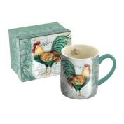Lang 5021090 Royal Rooster Mug by Susan Winget, 410ml, Assorted