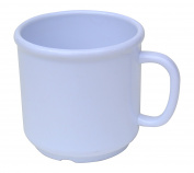 6 Pack Set - SAN Plastic - Hot Beverage Mug, White - 300ml