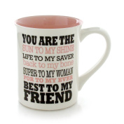 Enesco Our Name is Mud by Lorrie Veasey BFF Best to My Friend Mug, 11cm , Multicolor