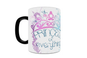 Trend Setters Princess of Everything Heat Activated Morphing Mugs, Black to White