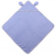 Organic Cotton Towel with Hood and Ears Design - Blue