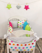 Bed Toy Bag Design18 Cot Pocket Nappy Bag Holder for Crib Toy New