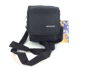 OBSESSED MENS WOMENS TRAVEL ACCESSORIES SHOULDER BELT UTILITY BAG SMALL PASSPORT POUCH NEW BLUE AND BLACK