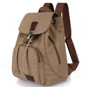 WITERY Girls Trendy Portable Handbags Canvas Casual Tote Bags Backpack For Women Khaki