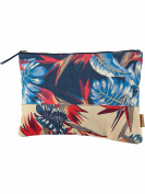 Barts Canvas Pouch Bag Cotton Print Blue 22x33 Model Teens and Women's Barts