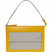 Womens Radley Grey & Yellow Leather Clutch Bag