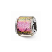 Top 10 Jewellery Gift Sterling Silver Reflections Purple/Pink/Green Dichroic Glass Bead