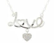 JY Jewellery 6Pcs/lot Silver Plated Chain Crystal Love Heart Choker Necklace