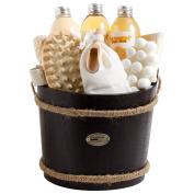 BRUBAKER Cosmetics Wooden Pail Spa Bath Gift Set 'Mango/Peach'