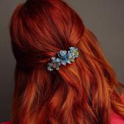 Flower Hair Clip Diamante Hair Clip Flower Hairclip Rhinestone Barrette Wedding Hair Clip Wedding Hair Accessory Diamante Hair Grip Crystal Hair Clip Hair Jewellery Hair Jewellery Large Hair Clip