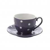 MW Sprinkle Cup and Saucer 300ml, Purple