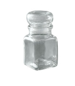 Grant Howard Square Bell Top Spice Jar (Set of 12), 150ml, Clear