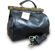 Made In Italy Doctor Midwife Doctor Bag Doc Bag Genuine Nappa Leather Black