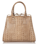 azzesso Women's Top-Handle Bag Brown Olivbraun