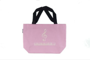 PartyErasers Music Themed Pink Treble Clef Small Tote Bag