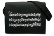 PartyErasers Music Themed Black Musical Note Messenger/crossbody bag