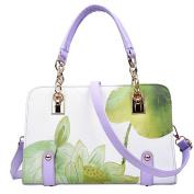 Womens Elegant Printing HandBags Crossbody Shoulder Bags Top HandleTote Bags Green
