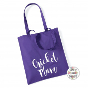 CRICKET MUM 100% Cotton Tote Bag Gift Bag Christmas Xmas Present Keepsake