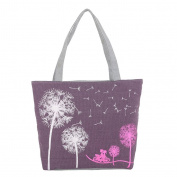 JJ Store Womens Canvas Dandelion Tote Shoulder Bag Shopping Tote Handbag