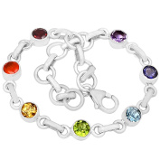 Xtremegems 9.4g Healing Chakra 925 Sterling Silver Bracelet Jewellery 20cm CP123